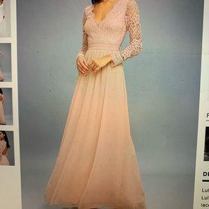Blush Long Lulus Dress